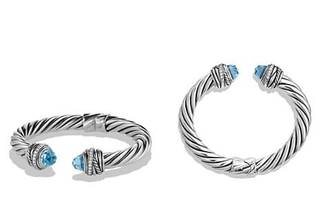 David Yurman Crossover Bracelet with Blue Topaz & Diamonds - Bloomingdale's_2