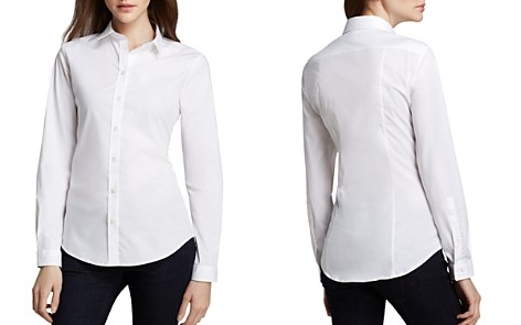 Burberry Basic Button-Down Blouse - Bloomingdale's_2