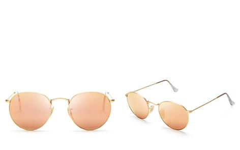 Ray-Ban Unisex Icons Mirrored Round Sunglasses, 50mm - Bloomingdale's_2