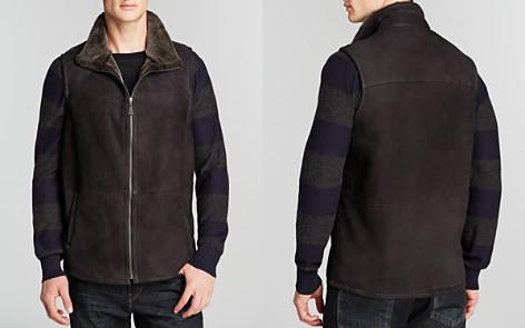 Maximilian Men's Shearling Lamb Vest with Stand Collar - Bloomingdale's_2
