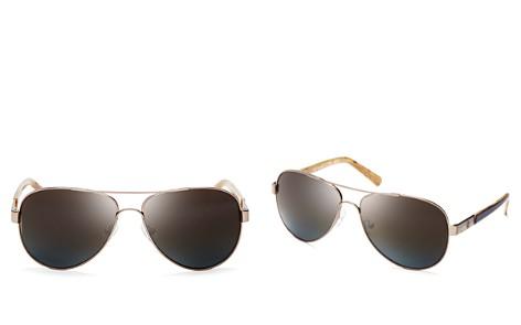 Tory Burch Polarized Aviator Sunglasses, 57mm - Bloomingdale's_2