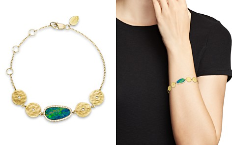Meira T 14K Yellow Gold Opal Disc Bracelet with Diamonds - Bloomingdale's_2