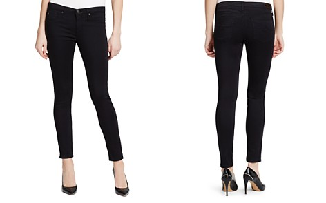 AG Legging Ankle Jeans in Black Stretch Sateen - Bloomingdale's_2