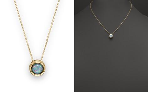 "Black Opal Bezel Set Pendant Necklace in 14K Yellow Gold, 17"" - 100% Exclusive - Bloomingdale's_2"