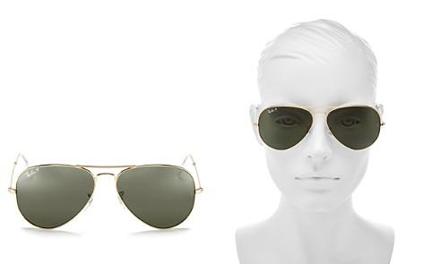 Ray-Ban Unisex Polarized Classic Aviator Sunglasses, 58mm - Bloomingdale's_2