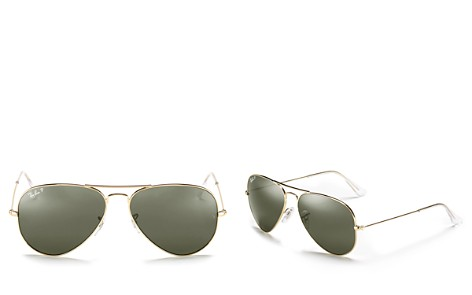Ray-Ban Polarized Classic Aviator Sunglasses, 62mm - Bloomingdale's_2