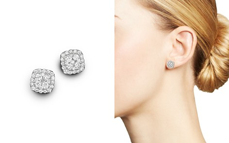 Diamond Cluster Stud Earrings in 14K White Gold, .50 ct. t.w. - 100% Exclusive - Bloomingdale's_2