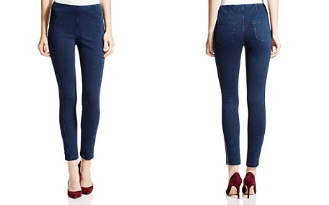 Lyssé Stretch Denim Zip Leggings - Bloomingdale's_2