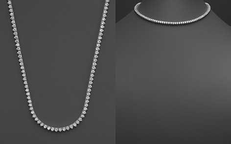 Bloomingdale's Certified Diamond Tennis Necklace in 14K White Gold, 15.0 ct. t.w. - 100% Exclusive_2