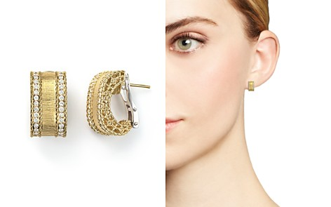 Roberto Coin 18K Yellow Gold Diamond Satin Princess Earrings - Bloomingdale's_2