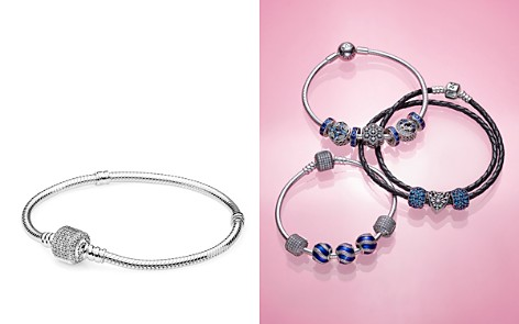 PANDORA Moments Collection Sterling Silver & Cubic Zirconia Signature Clasp Bracelet - Bloomingdale's_2