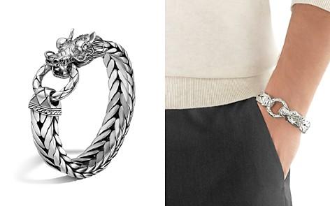 John Hardy Men's Naga Silver Dragon Head Bracelet on Fishtail Chain - Bloomingdale's_2