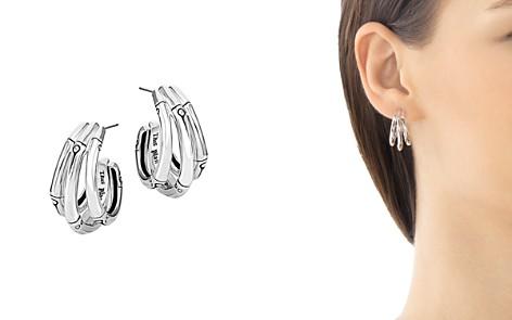 John Hardy Bamboo Silver Small J Hoop Earrings - Bloomingdale's_2