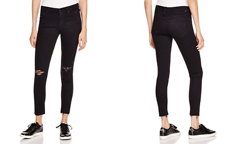MOTHER Looker Ankle Fray Jeans in Guilty as Sin - Bloomingdale's_2