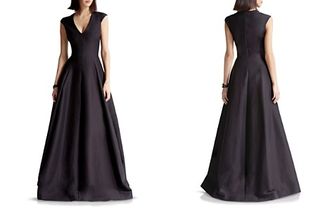 HALSTON HERITAGE Faille Structured Gown - Bloomingdale's_2