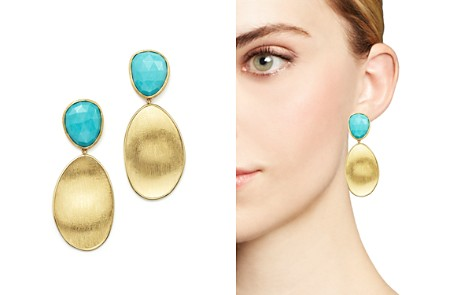 Marco Bicego 18K Yellow Gold Turquoise Two Drop Earrings - Bloomingdale's_2