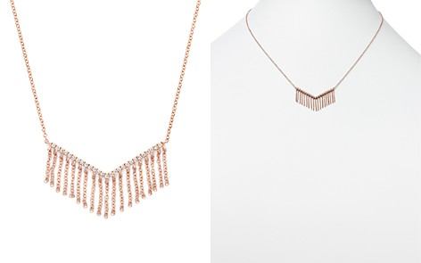 Diamond V Pendant Necklace with Fringe in 14K Rose Gold, .20 ct. t.w. - 100% Exclusive - Bloomingdale's_2