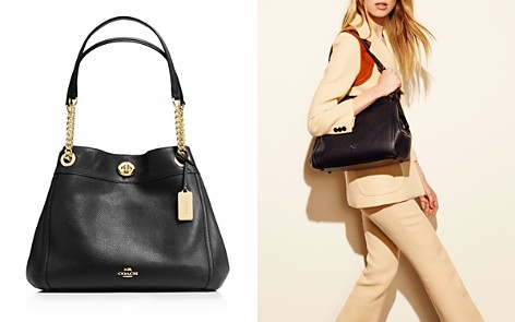 COACH Turnlock Edie Shoulder Bag in Pebble Leather - Bloomingdale's_2
