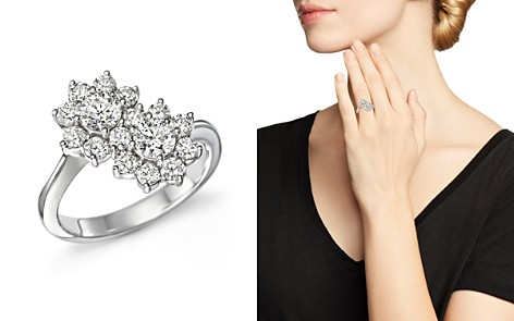 Diamond Flower Two-Stone Ring in 14K White Gold, 1.50 ct. t.w. - 100% Exclusive - Bloomingdale's_2