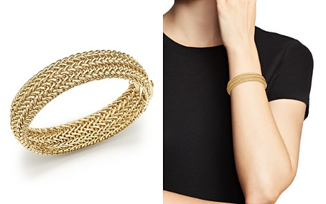 14K Yellow Gold 3-Row Link Bangle - 100% Exclusive - Bloomingdale's_2