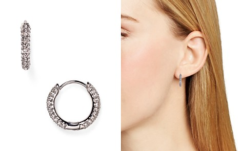 Nadri Swarovski Crystal Hoop Earrings Bloomingdale S 2