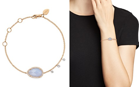 Meira T 14K Rose and White Gold Chalcedony Bracelet with Diamonds - Bloomingdale's_2