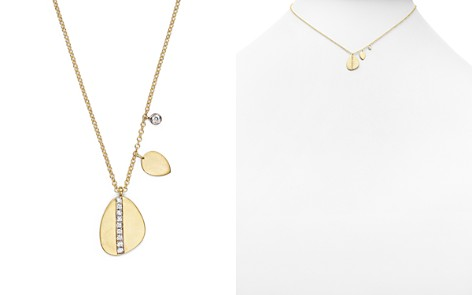 """Meira T 14K Yellow Gold Pear Nugget Necklace with Diamonds, 16"""" - Bloomingdale's_2"""