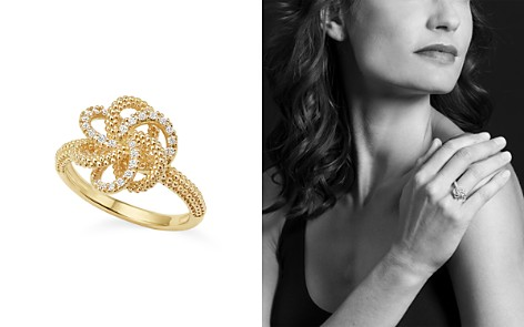 LAGOS 18K Yellow Gold Love Knot Ring with Diamonds - Bloomingdale's_2