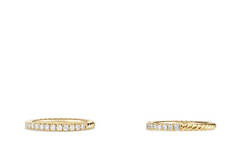 David Yurman Cable Collectibles Ring with Diamonds in 18K Gold - Bloomingdale's_2