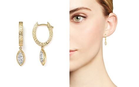 Diamond Huggie Hoop Earrings in 14K Yellow Gold, .20 ct. t.w. - 100% Exclusive - Bloomingdale's_2