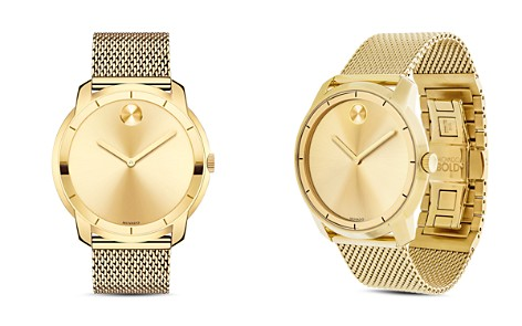 Movado BOLD Museum Dial Watch with Mesh Link Bracelet, 44mm - Bloomingdale's_2