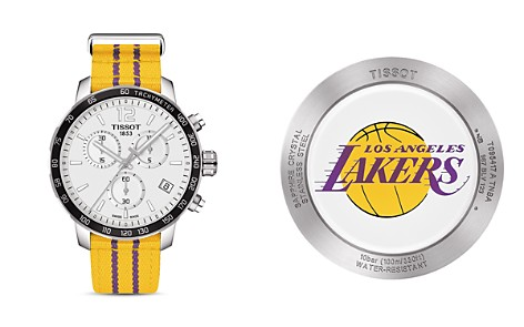 Tissot Los Angeles Lakers Quickster Stainless Steel Chronograph, 42mm - Bloomingdale's_2