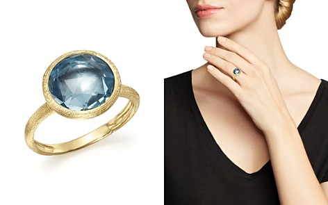 Marco Bicego 18K Yellow Gold Jaipur Ring with Blue Topaz - Bloomingdale's_2