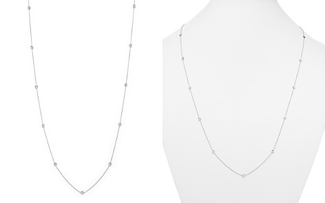 "Roberto Coin 18K White Gold Diamond By The Inch Necklace, 34"" - Bloomingdale's_2"