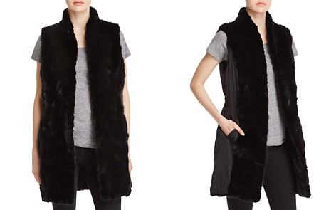 Maximilian Furs Stand Collar Mink Long Vest - Bloomingdale's_2
