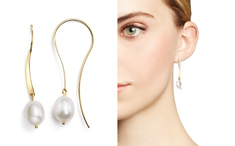 14K Yellow Gold Sweep Drop Earrings with Cultured Freshwater Pearls - Bloomingdale's_2