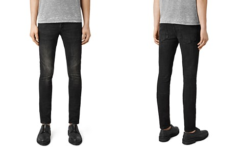 ALLSAINTS Print Cigarette Skinny Fit Jeans in Jet Black - Bloomingdale's_2