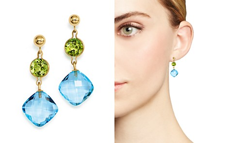 Peridot and Blue Topaz Drop Earrings in 14K Yellow Gold - 100% Exclusive - Bloomingdale's_2