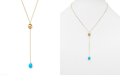 "Turquoise Nugget Y-Necklace in 14K Yellow Gold, 18"" - 100% Exclusive - Bloomingdale's_2"
