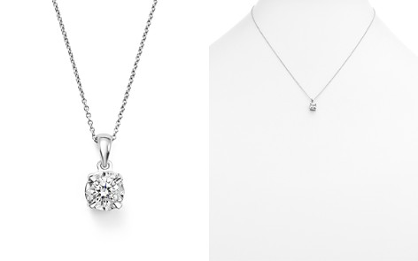 Diamond Solitaire Pendant Necklace in 14K White Gold, .30 ct. t.w. - 100% Exclusive - Bloomingdale's_2