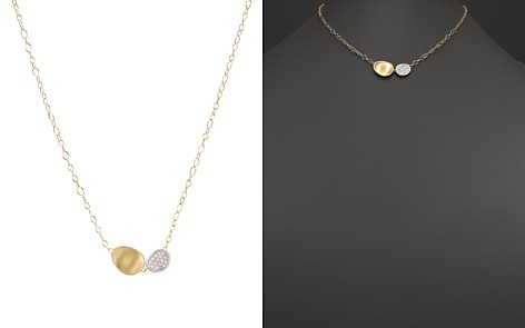 """Marco Bicego 18K White and Yellow Gold Lunaria Two Pendant Diamond Necklace, 16.5"""" - Bloomingdale's_2"""