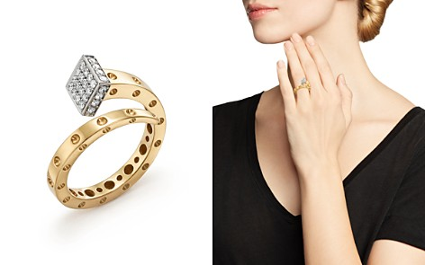 Roberto Coin 18K Yellow and White Gold Pois Moi Chiodo Ring with Diamonds - 100% Exclusive - Bloomingdale's_2