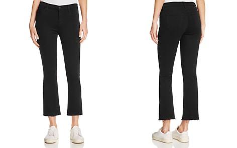 J Brand Selena Cropped Bootcut Jeans in Black Bastille - Bloomingdale's_2