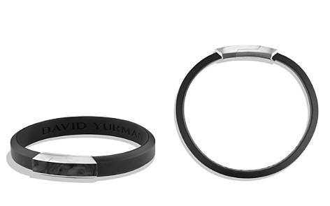 David Yurman Forged Carbon Rubber ID Bracelet in Black - Bloomingdale's_2