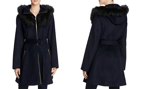 Laundry by Shelli Segal Fur Hood Fit-and-Flare Coat - Bloomingdale's_2