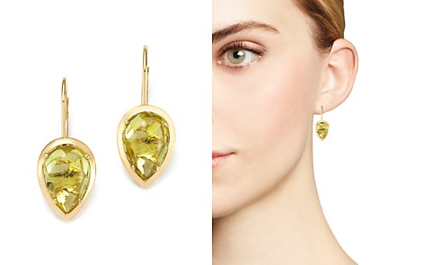 Teardrop Lemon Quartz Drop Earrings in 14K Yellow Gold - 100% Exclusive - Bloomingdale's_2