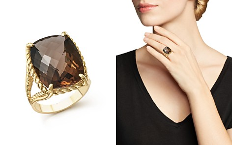 Smoky Quartz Rectangular Statement Ring in 14K Yellow Gold - 100% Exclusive - Bloomingdale's_2