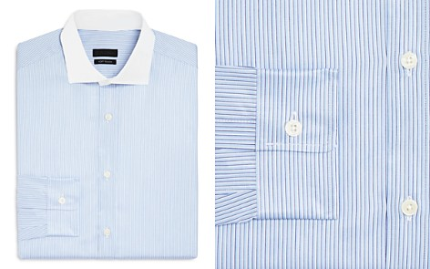 Z Zegna Stripe Slim Fit Dress Shirt - Bloomingdale's_2
