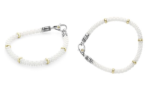 LAGOS 18K Gold and Sterling Silver White Caviar Bracelets - Bloomingdale's_2