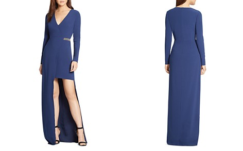 HALSTON HERITAGE Chain Detail High/Low Gown - Bloomingdale's_2